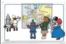 Illustratore A. Bertiglia - Bambini - Guerra - Nuova Europa. - Bertiglia, A.