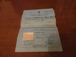 BIGLIETTO TRENO PALERMO A ROMA VIAGGI DEGLI EX PARLAMENTARI O DELLE PERSONE DI FAMIGLIA-1981 - Railway