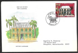 1979 New Caledonia First Day Cover - Aspect Of The Old Noumea - New Caledonia