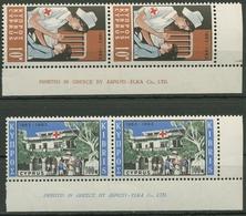 Zypern 1963 100 Jahre Int. Rotes Kreuz Druckerzeichen 223/24 DZ Postfrisch - Chypre (République)