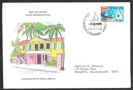 1979 Cocos (Keeling) Islands First Day Cover - Flag, Southern Cross - Cocos (Keeling) Islands