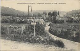 D91 - VILLIERS LE BÂCLE - (PRES GIF) - LA FOURCHE DES ROUTES DE GIF ET CHÂTEAUFORT - Homme Avec Plusieurs Vaches - Autres Communes