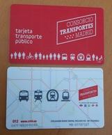 SPAIN Madrid Train Railway Metro Bus Used Ticket Plastic Card - Transportation Tickets