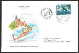 1979 San Marino First Day Cover - European Waterskiing Championship - San Marino