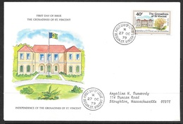 1979 Grenadines St. Vincent First Day Cover - House Of Assembly - St.Vincent & Grenadines