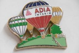 Pin's ARTHUS BERTRAND - Montgolfières ADIA Interim - Airships