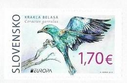 SLOVAKIA, 2019, MNH, EUROPA, BIRDS, 1V SELF-ADHESIVE Ex. BOOKLET - 2019