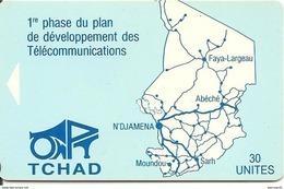 CARTE^-TCHAD-30U-Sans PUCE-EPREUVE-R° TBE-V°TBE - Tschad