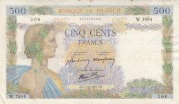 Billet 500 F La Paix Du 1-10-1942 FAY 32.41 Alph. W.7004 - 1871-1952 Gedurende De XXste In Omloop