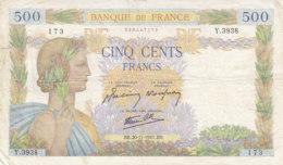 Billet 500 F La Paix Du 20-11-1941 FAY 32.24 Alph. Y.3938 - 1871-1952 Gedurende De XXste In Omloop