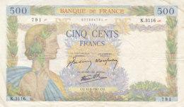 Billet 500 F La Paix Du 11-6-1941 FAY 32.18 Alph. K.3116 - 1871-1952 Gedurende De XXste In Omloop