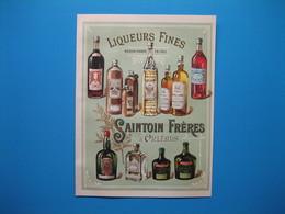 (1894) Liqueurs Fines - SAINTOIN Frères (Maison Fondée En 1760) Orléans - Publicités