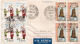 Postal History Cover: Brazil Sets On Cover - Christmas