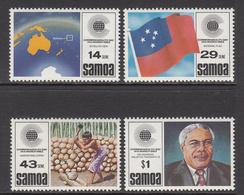 1983 Samoa Commonwealth Flags Maps  Complete Set Of 4 MNH - Samoa