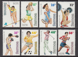 1983 Samoa South Pacific Games Football Golf Rugby Tennis   Complete Set Of 8 MNH - Samoa