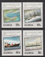 1984 Samoa Lloyds List Ships Complete Set Of 4 MNH - Samoa
