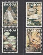 1985 Samoa Mushrooms Fungi Complete Set Of 4 MNH - Samoa