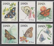 1986 Samoa Butterflies Complete Set Of 6 MNH - Samoa