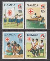 1989 Samoa Red Cross Health Blood Donation  Complete Set Of 4 MNH - Samoa