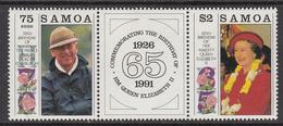 1991 Samoa QEII Wedding Complete Set Of 2 MNH - Samoa