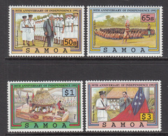 1992 Samoa Independence  Complete Set Of 4 MNH - Samoa
