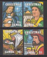 1995 Samoa Christmas Noel  Complete Set Of 4 MNH - Samoa
