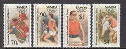 1996 Samoa  Atlanta Olympics Boxing Complete Set Of 4 MNH - Samoa