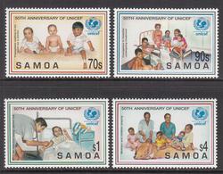1996 Samoa  UNICEF Health Complete Set Of 4 MNH - Samoa