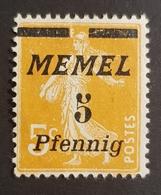 """1922 French Postage Stamps Overprinted """"Memel"""", Klaipeda, Allemagne, Germany,  *,**, Or Used - Klaipeda"""