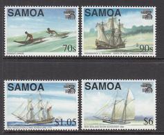 1999 Samoa  Ships Explorers Complete Set Of 4 MNH - Samoa