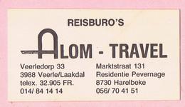Sticker - REISBURO'S - Alom Travel - Veerledorp Veerle/Laakdal - Marktstraat Harelbeke - Autocollants