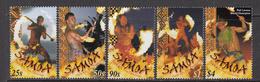 2001 Samoa  Fire Dancers Costumes Culture Complete Set Of 4 MNH - Samoa