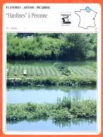 02 HARDINES A PERONNE  Aisne  FLANDRES ARTOIS PICARDIE Géographie Fiche Illustrée Documentée - Géographie