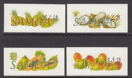 2007 Samoa Tropical Fruit Mangoes Coconuts Pineapples  Complete Set Of 4 MNH - Samoa