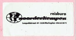 Sticker - REISBURO - Noorderkempen - Leopoldstraat Merksplas - Autocollants