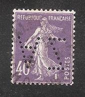 Perfin/perforé/lochung France No 236 AZ Mines D'Anzin - Perforés