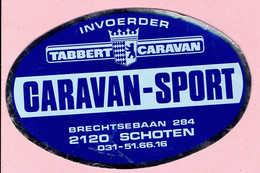 Sticker - Invoerder TABBERT CARAVAN - CARAVAN SPORT - Brechtsebaan Schoten - Autocollants