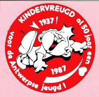 Sticker - 50 Jaar Kindervreugd Antwerpen - 1937 1987 - Autocollants