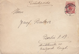 Poland KATOWICE 1931 Cover Brief BERLIN Germany Drucksache Jósef Pisudski Stamp - 1919-1939 République