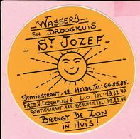 Sticker - Wasserij En Droogkuis St.Jozef Statiestraat Heide - Berchem - L.O. - Autocollants