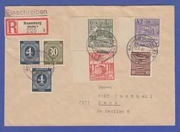 SBZ Portoger. R-Brief Aus Naumburg Mit U.a. Mi.-Nr. 72 Und 87-89 B.  - Zona Soviética