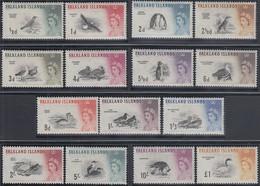 Falkland-Inseln 1960 Freimarken Mi.-Nr. 123-137 Satz 15 Werte Kpl. ** - Falklandinseln
