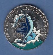Kuba / Cuba 1994 Münze 1 Peso  Schwertfisch Coloriert Kupfer-Nickel - Monete