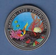 Palau 1 Dollar Münze Schutz Des Meereslebens 1994 Coloriert Cu/Ni - Monnaies