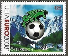 Autriche Austria Österreich 2008 UEFA EURO Le Football Ball Montagne, 1 Val Mnh - Championnat D'Europe (UEFA)