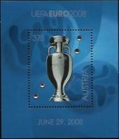 Autriche Austria Österreich 2008 UEFA EURO Le Football Tasse Avec Cristaux Swarovski, 1 SS  Mnh - Championnat D'Europe (UEFA)