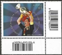 Autriche Austria Österreich 2008 UEFA EURO Le Football Espagne Joueur Casillas Coupe, 1 Val  Mnh - Europees Kampioenschap (UEFA)