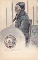 CPA 68 @ MUNSTER - Vieille Femme - Illustration Illustrateur Alsacien Charles Spindler (St Léonard) - Munster