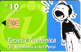 PERU - InfoVia, Telefonica Telecard, Chip GEM1.1, Tirage 50000, 02/98, Used - Peru