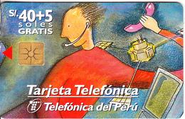 PERU - Telecomunicaciones, Telefonica Telecard, Chip GEM1.2, Tirage 50000, 02/98, Used - Peru